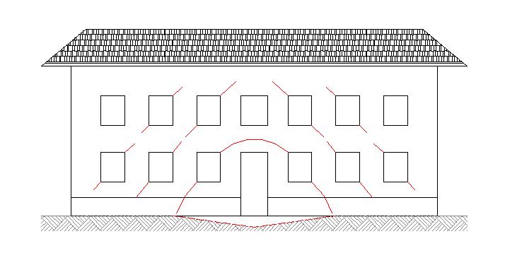 cimentaciones superficiales, grietas diagonales