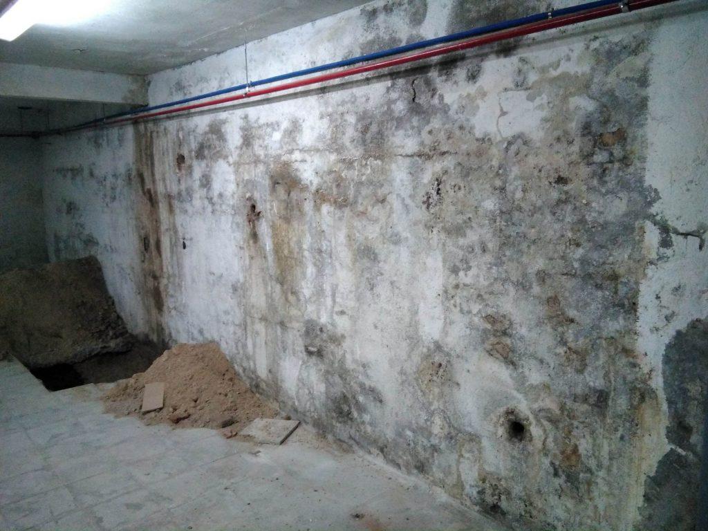 La humedad en los muros de sótano puede llegar a situaciones dramáticas